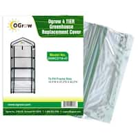 """Ogrow 4 Tier Greenhouse Replacement Cover - To Fit Frame Size  19.3""""W X 27.2""""D X 62.2""""H"""