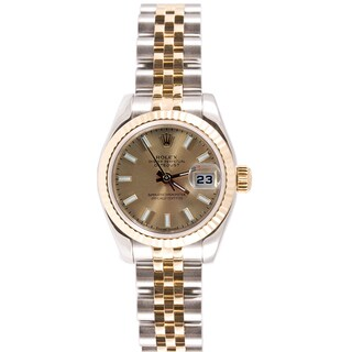 Pre-Owned Rolex Women's Two-tone Datejust Champagne Dial Watch