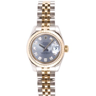 Pre-Owned Rolex Women's Two-tone Diamond Dial Watch