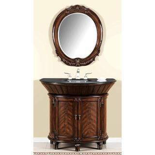 ICA Furniture Anteros Demilune Bathroom Vanity with Mirror