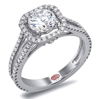 Demarco 18k White Gold 1 3/5ct TDW Designer Diamond Engagement Ring (F-G, SI1-SI2)