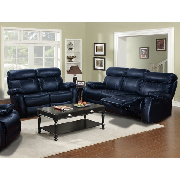 barcelona black leather reclining 2 piece sofa and loveseat set free