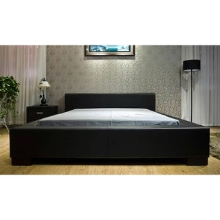 Greatime Faux Leather Low Platform Bed