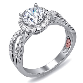 Demarco 18k White Gold 1 1/2ct TDW Designer Diamond Engagement Ring (F-G, SI1-SI2)