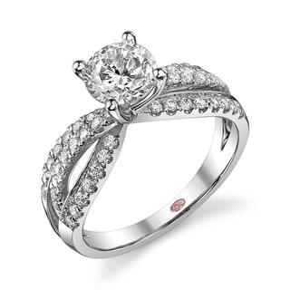 Demarco 18k White Gold 1 1/2ct TDW Designer Diamond Engagement Ring (F-G, SI1-SI2)