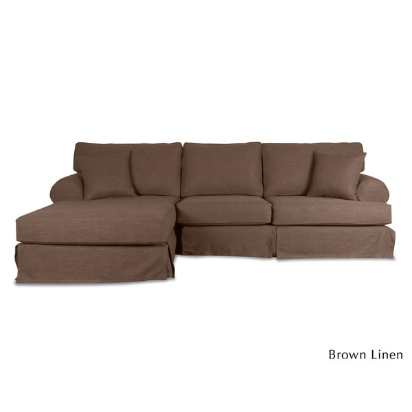 H&tons Slipcover Sectional Chaise - Free Shipping Today - Overstock.com - 16474838  sc 1 st  Overstock : chaise slipcover - Sectionals, Sofas & Couches