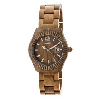Earth Men's Pith Brown Olive Wood Analog Watch