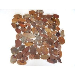 Redwood Sliced Pebble Mesh Tile (Pack of 5)