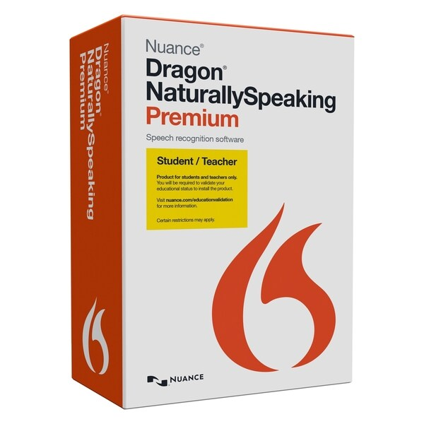 shop nuance dragon naturallyspeaking premium student teacher 1 us free shipping today. Black Bedroom Furniture Sets. Home Design Ideas