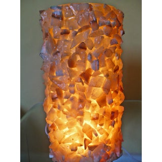 Hand-crafted Egyptian Alabaster Glitter Lamp (Egypt)