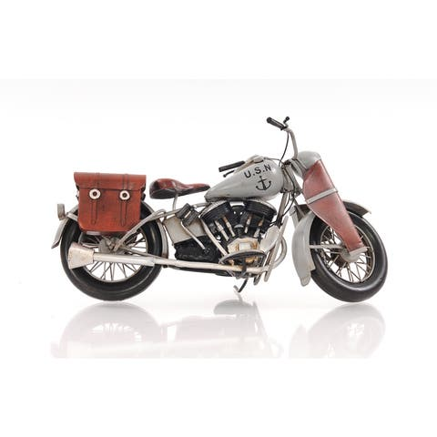 1942 Indian Model 741 Grey Motorcycle