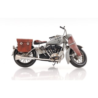 1945 Grey Motorcycle 1:12 Scale Model