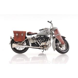 1945 Grey Motorcycle 1:12 Scale Model