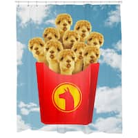 Llama Fries Shower Curtain