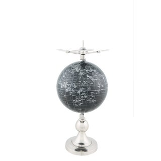 Airplane Globe and Brass Stand