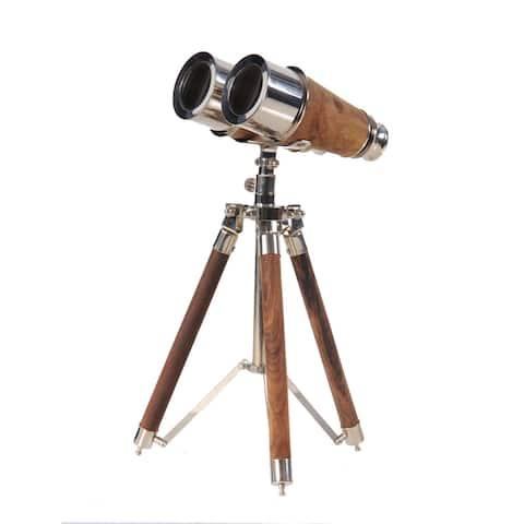 Brass Binocular on Display Stand