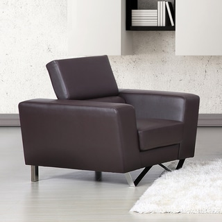 Edam Contemporary Chocolate Leather Chair