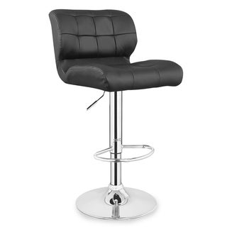 Patch Tufted Faux Leather Swivel Stool (Set of 2)