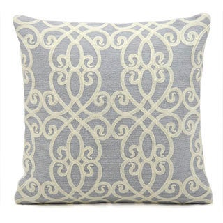 kathy ireland Romance Blue Throw Pillow (18-inch x 18-inch) by Nourison