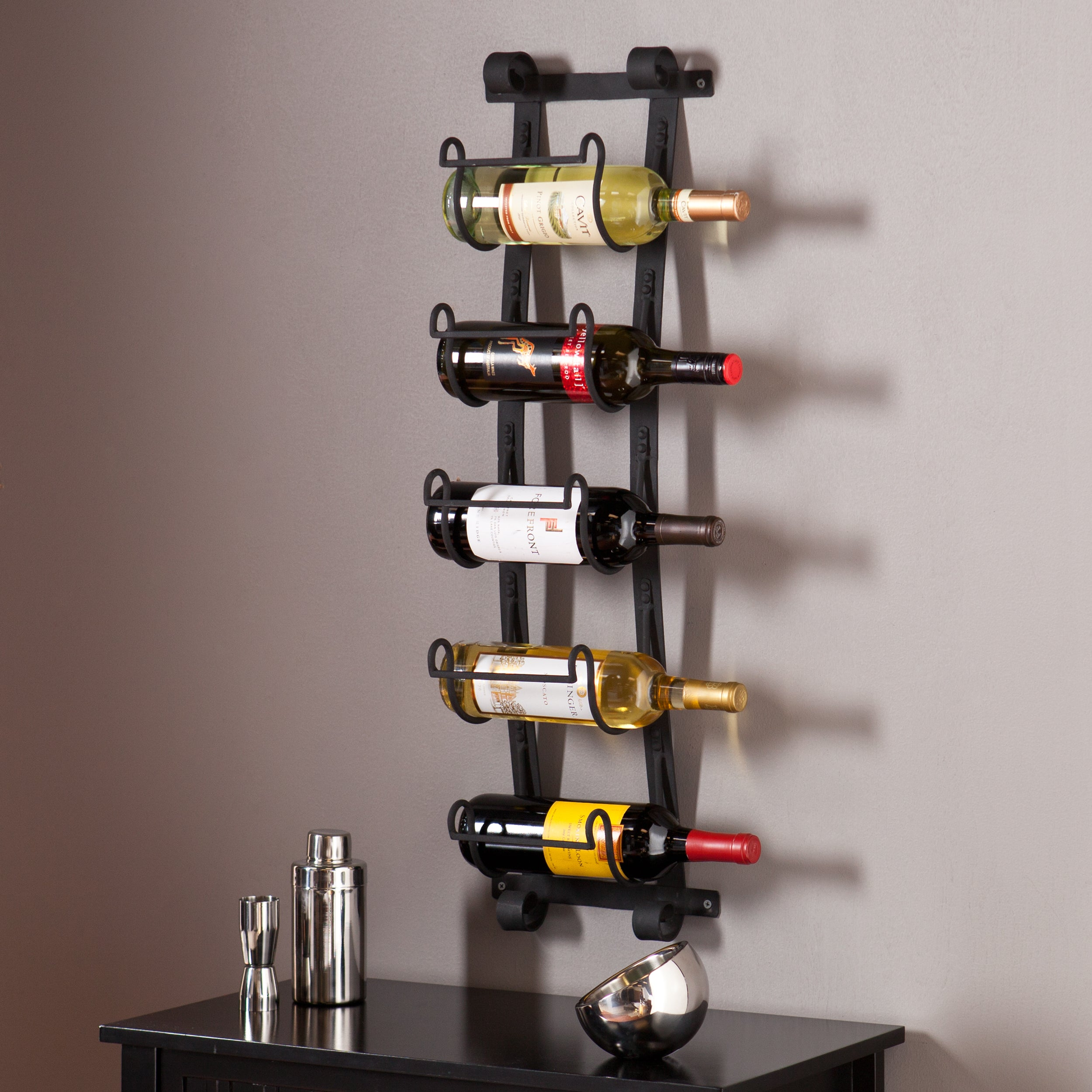 your home wall wine racks iron ironwork uma with decorative simple public rack for mount