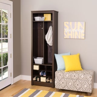 Everett Espresso Space-saving Entryway Organizer with Shoe Storage