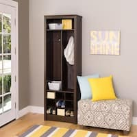 Prepac Everett Espresso-finished Laminate Space-saving Entryway Organizer with Shoe Storage