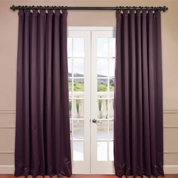 exclusive fabrics extra wide thermal blackout 96-inch curtain