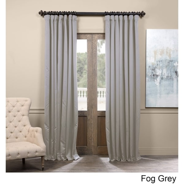 shop exclusive fabrics extra wide thermal blackout 96 inch curtain panel on sale free. Black Bedroom Furniture Sets. Home Design Ideas
