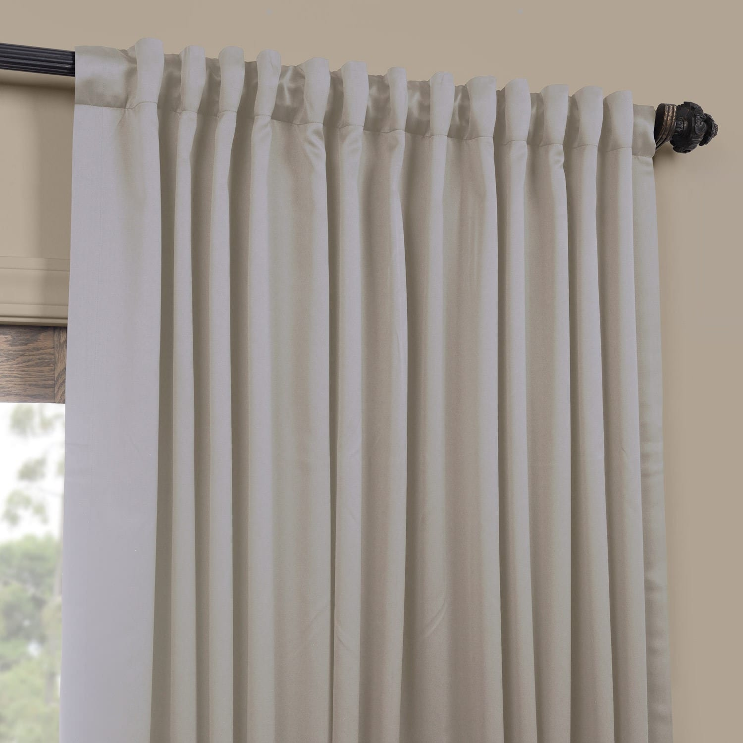 exclusive fabrics extra wide thermal blackout 108 inch curtain panel 100 x 108 ebay. Black Bedroom Furniture Sets. Home Design Ideas