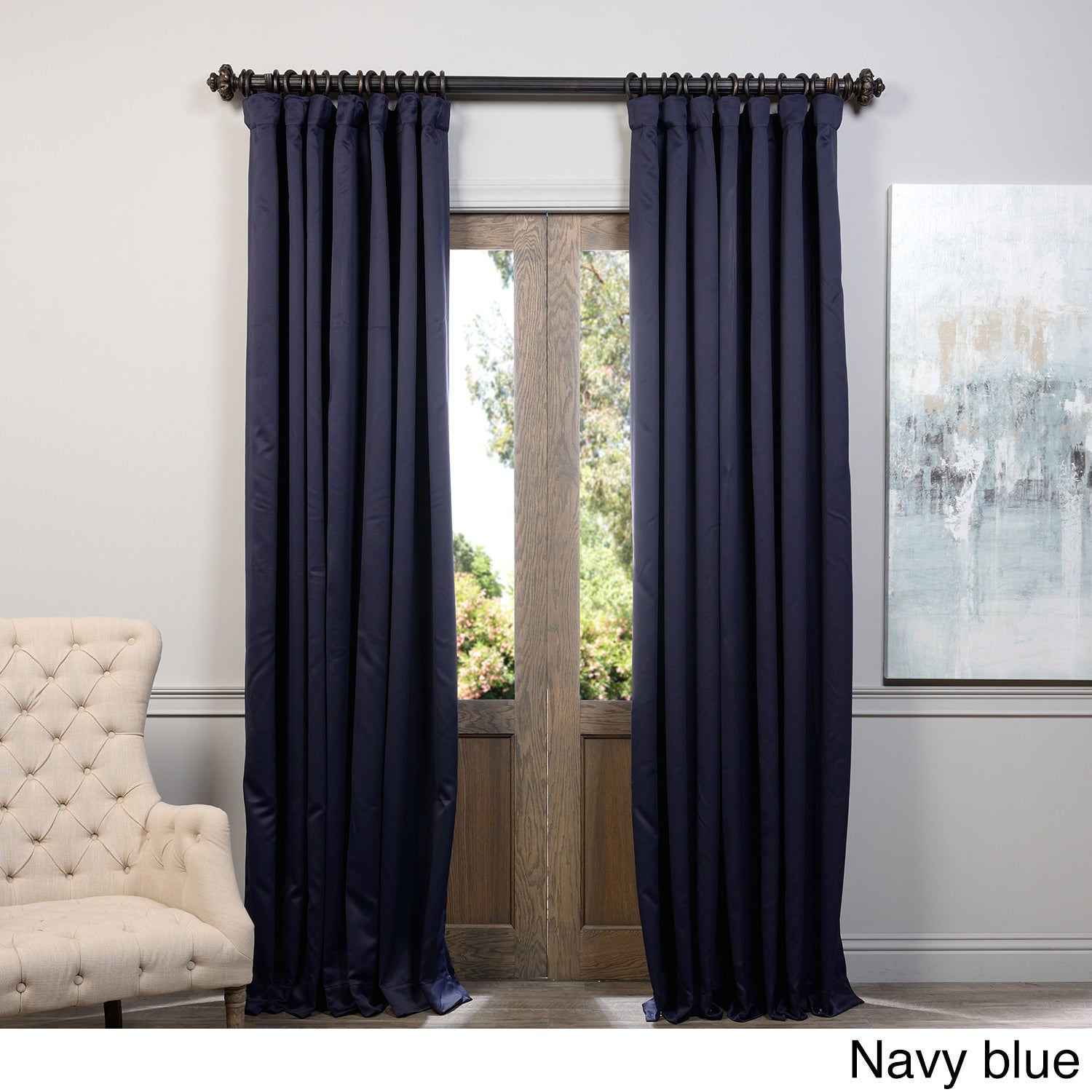 exclusive fabrics extra wide thermal blackout 108 inch curtain panel ebay. Black Bedroom Furniture Sets. Home Design Ideas