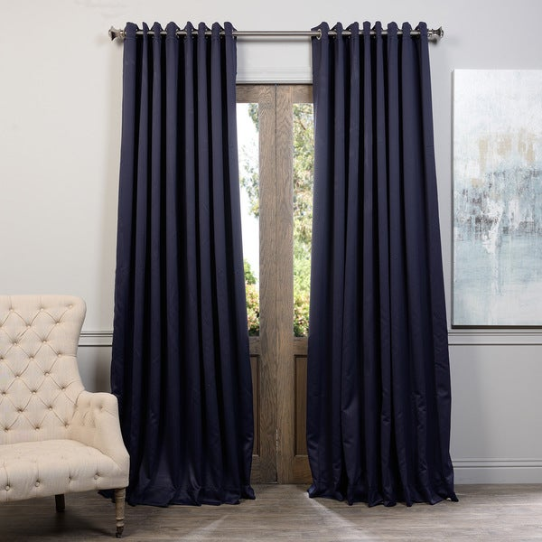 exclusive fabrics extra wide thermal blackout grommet top 84 inch curtain panel free shipping. Black Bedroom Furniture Sets. Home Design Ideas