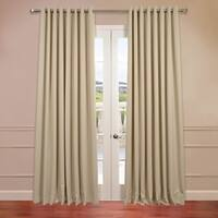 Exclusive Fabrics Extra Wide Thermal Blackout Grommet 96-inch Curtain Panel