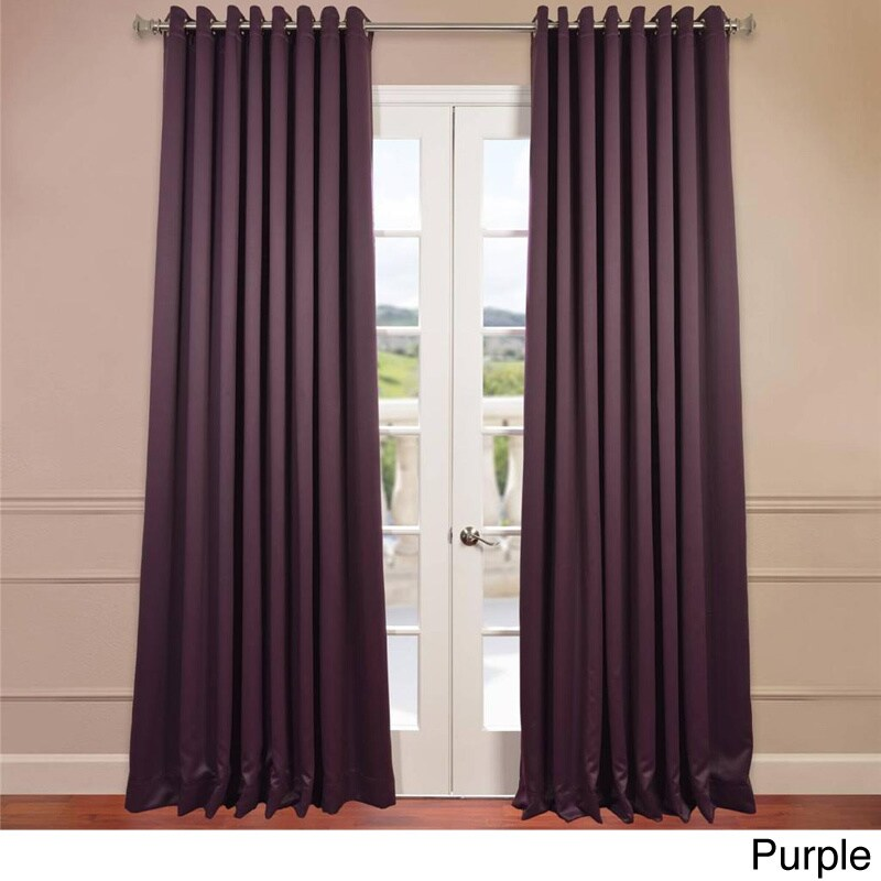 Exclusive Fabrics Extra Wide Thermal Blackout Grommet Top 108 Inch Curtain Panel Ebay
