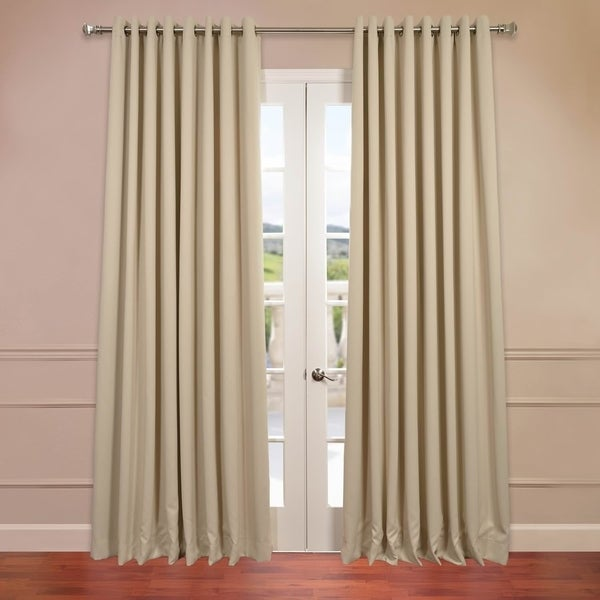 shop exclusive fabrics extra wide thermal blackout grommet top 108 inch curtain panel on sale. Black Bedroom Furniture Sets. Home Design Ideas