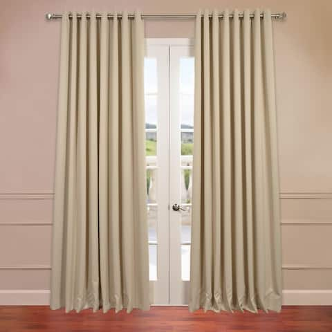 Exclusive Fabrics Extra Wide Thermal Blackout Grommet Top 108-inch Curtain Panel - 100 x 108