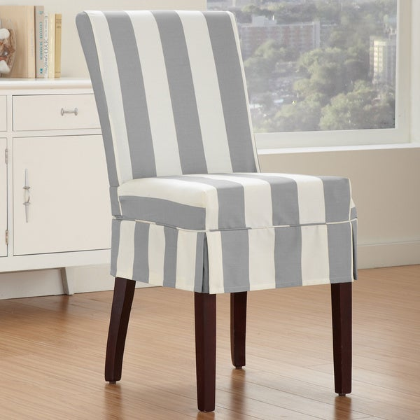 QuickCover Cabana Dining Chair Relaxed Fit Slipcover With Buttons