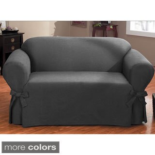 QuickCover Bruce One-piece Relaxed Fit Sofa Slipcover with Ties