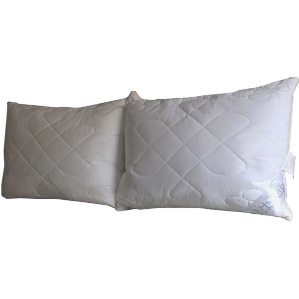 Hypoallergenic Quilted Snowflake-patterned Microfiber Jumbo-size Pillows (Set of 2)