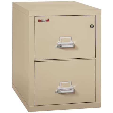 "FireKing Fireproof Vertical File Cabinet, Letter, 2 Drawers, 31.5""D"