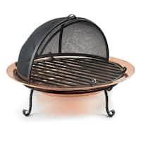 Shop Medium Polished Copper Fire Pit Free Shipping Today