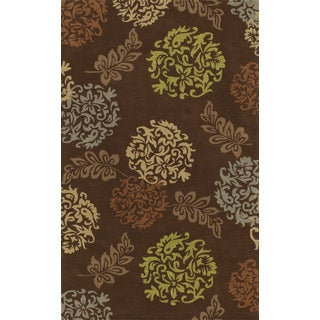 Russet Chocolate Rectangular Wool Area Rug (8' x 10')