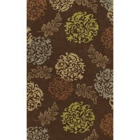 Russet Chocolate Rectangular Wool Area Rug