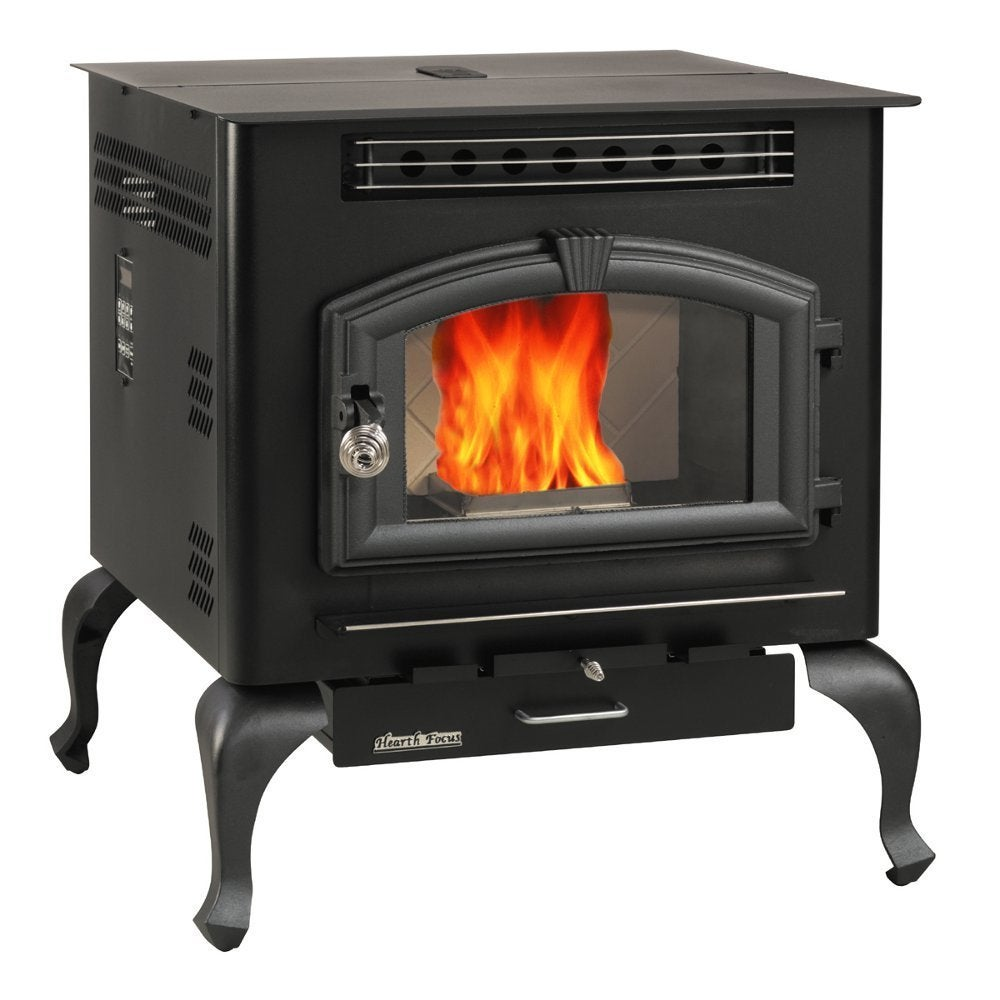 United Multi Fuel Stove with Legs (Black) (Glass)