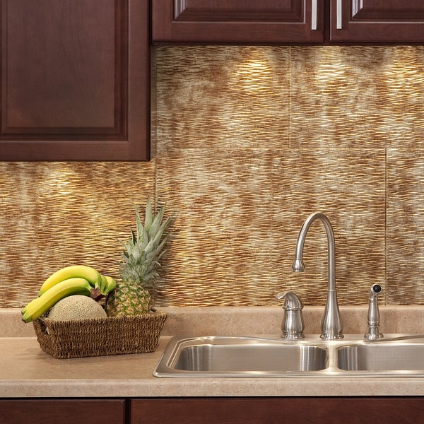 Ripples Backsplash In Bermuda Bronze Kit