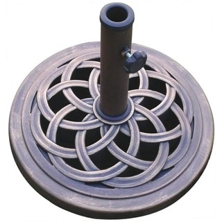 18-inch Cast Stone and Bronze Umbrella Base