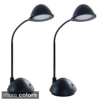 Lavish Energy Saving Bright LED Goose Neck Dome Desk Lamp (Set of 2)