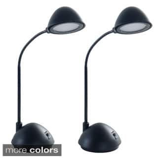 Lavish Energy Saving Bright LED Goose Neck Dome Desk Lamp (Set of 2)|https://ak1.ostkcdn.com/images/products/9315793/P16476323.jpg?impolicy=medium