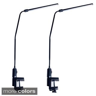 Lavish Home LED Stick Light Adjustable Desk Lamp with Clamp (Set of 2)|https://ak1.ostkcdn.com/images/products/9315803/P16476325.jpg?impolicy=medium