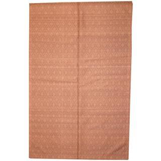 Herat Oriental Indo Hand-tufted Flat Weave Kilim Lavender/ Grey Wool Rug (5'6 x 8'7)
