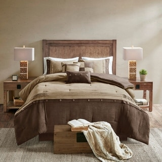 Link to Madison Park Westbrook 7 Piece Faux Suede Comforter Set Similar Items in Comforter Sets